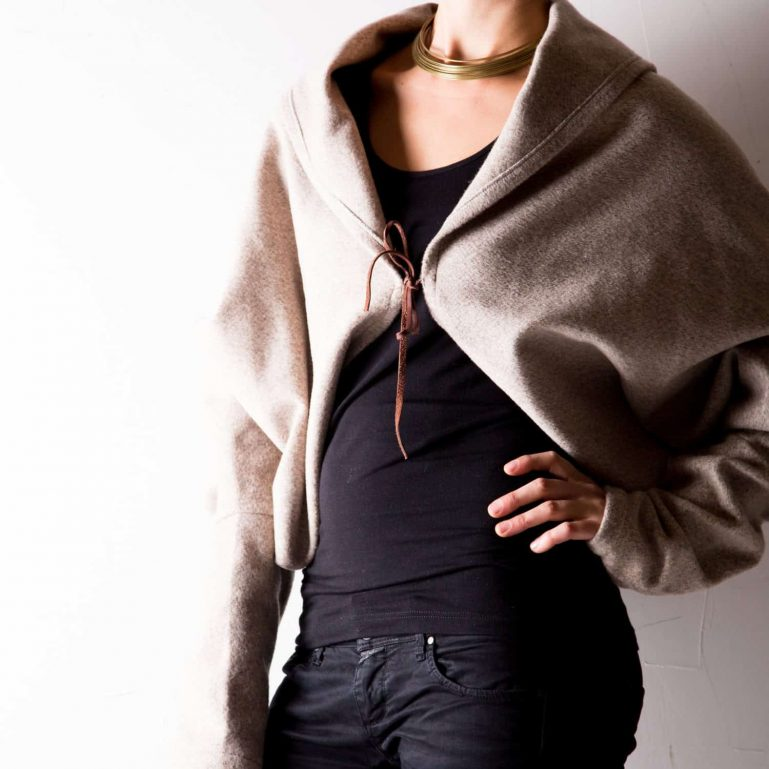 Cropped Ivory Winter Jacket