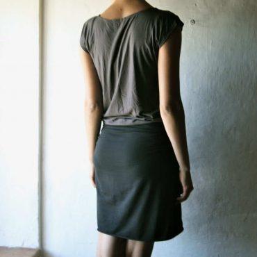 Edgy Cotton Wrap Skirt