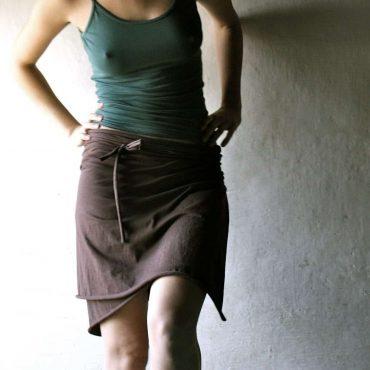 Wrap skirt, Cotton skirt, Brown skirt, Jersey skirt, Womens clothing, Pencil skirt, Maternity skirt, plus size clothes, Mini skirt, tank top