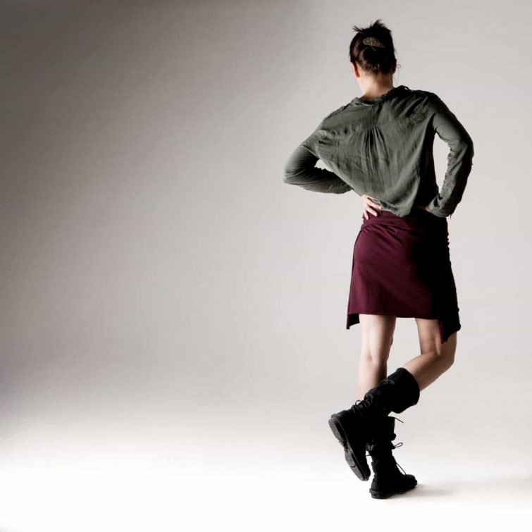 Wrap skirt, Cotton skirt, Red skirt, Jersey skirt, Womens clothing, Pencil skirt, Maternity skirt, plus size clothing, Mini skirt, Burgundy