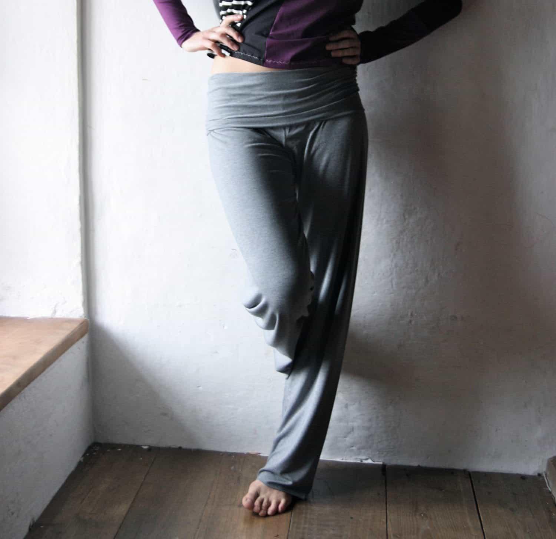 Wide Leg Yoga Pants Larimeloom Italian Handmade Clothing