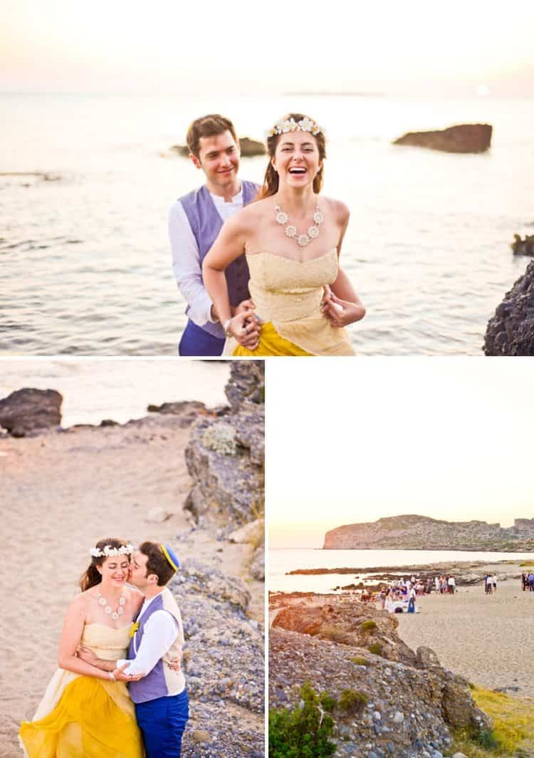 beach wedding in crete