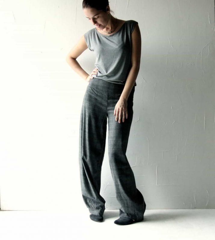 Grey wool pants