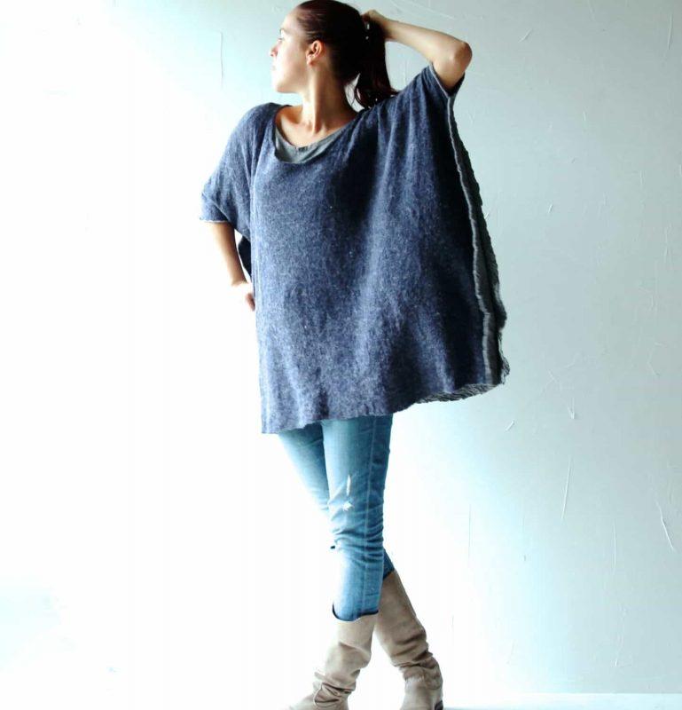 oversized poncho sweater