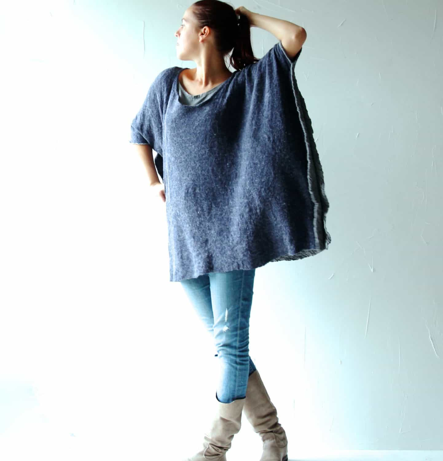 oversized poncho sweater