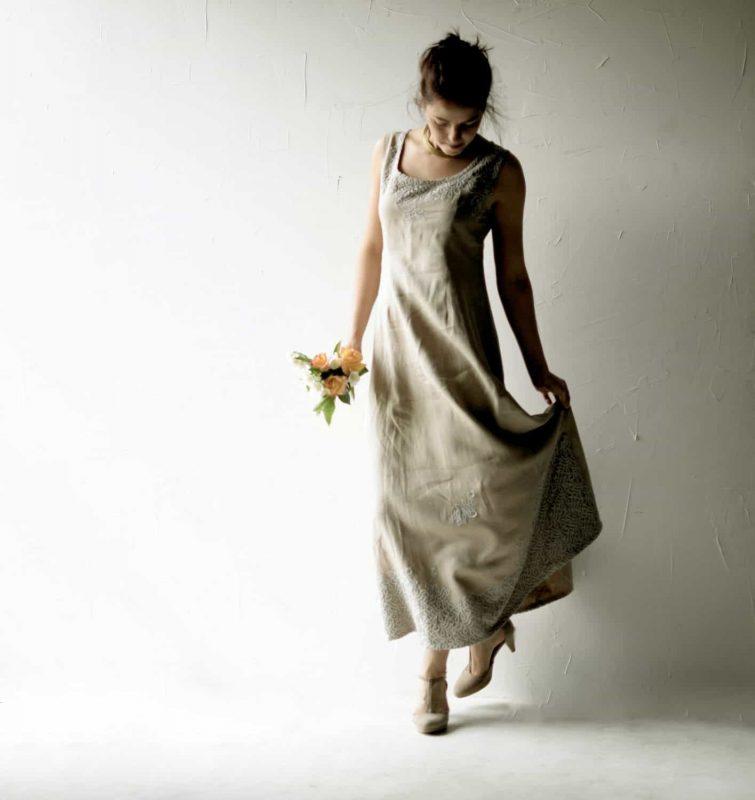 Linen wedding dress - Larimeloom