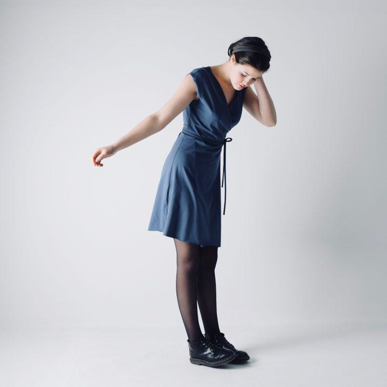Short V-neck Wrap dress