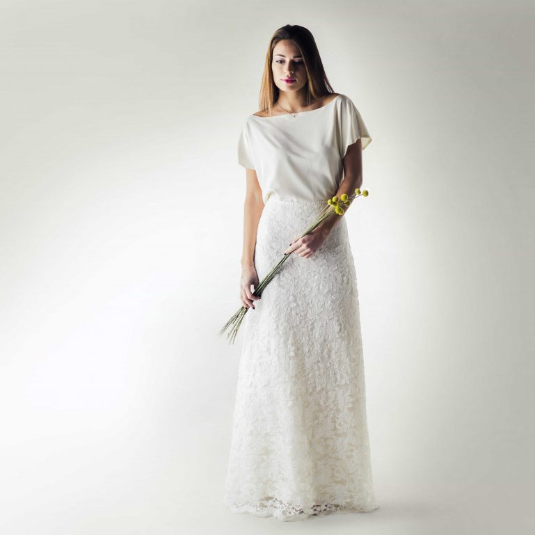 long Lace wedding skirt