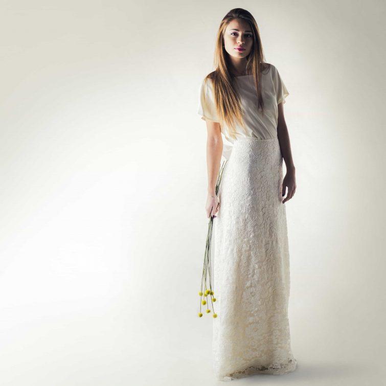 long Lace wedding skirt
