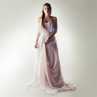 Lavender fairy wedding dress