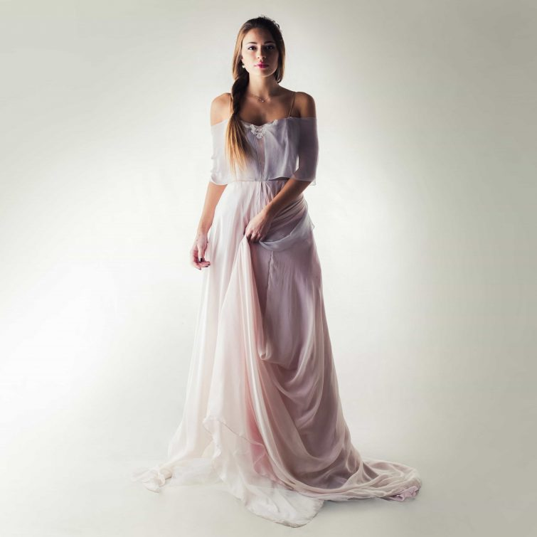 Lavender fairy wedding dress