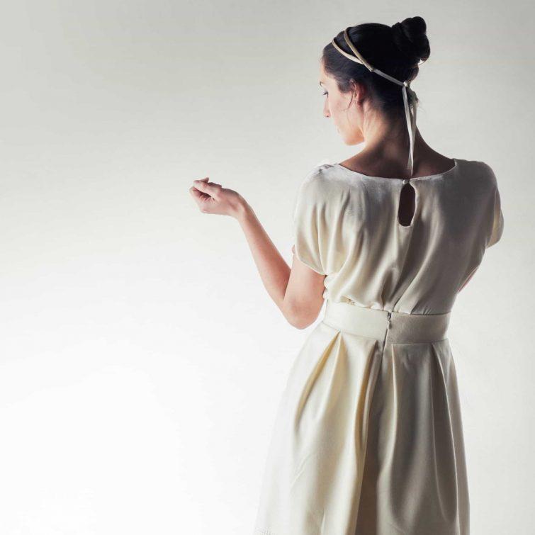 Ivory velvet wedding top