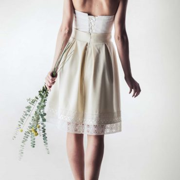Wool winter wedding skirt