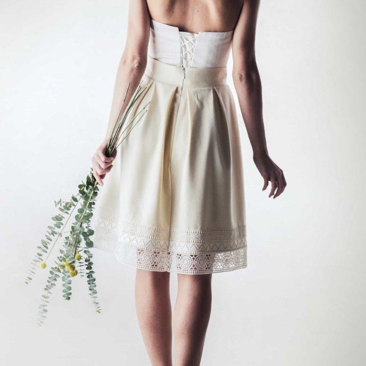 Wool winter wedding skirt