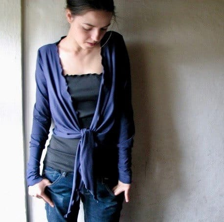 Long sleeve Wrap Cardigan