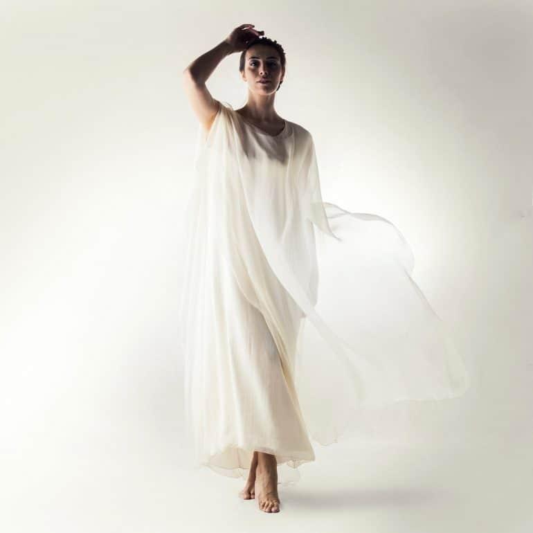 Simple Pagan wedding dress
