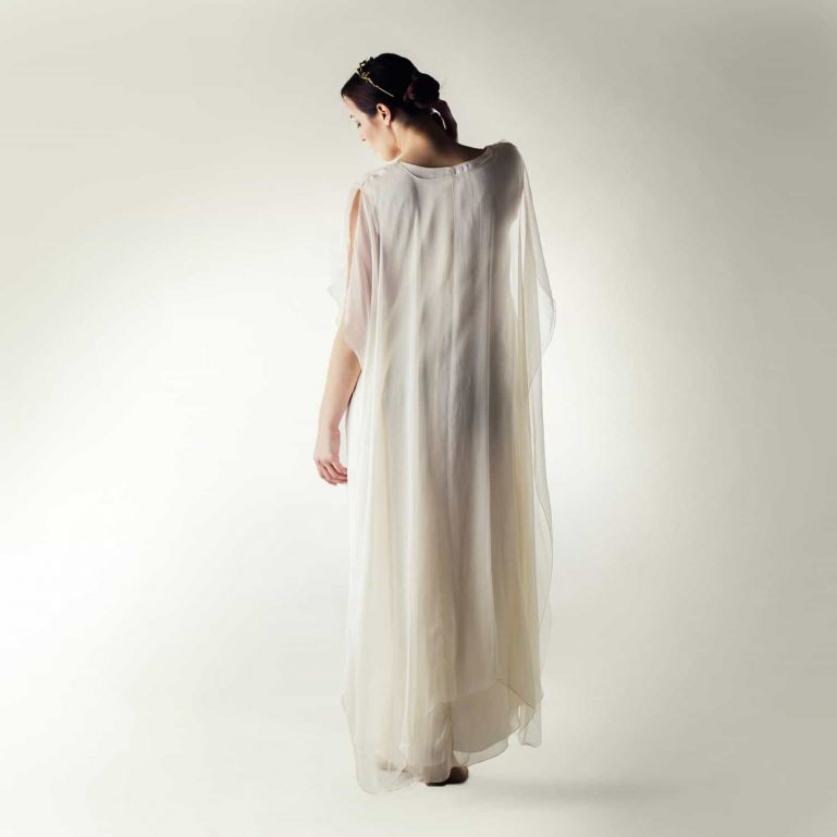 Simple Pagan wedding dress