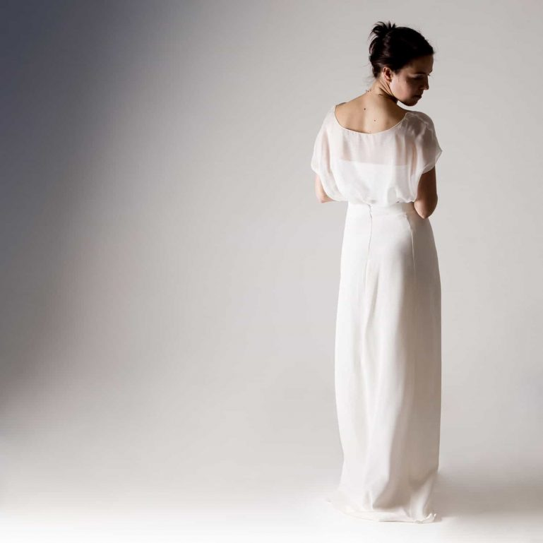 Cotton jersey bridal bustier