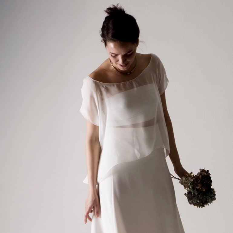 Cotton jersey bridal bustier
