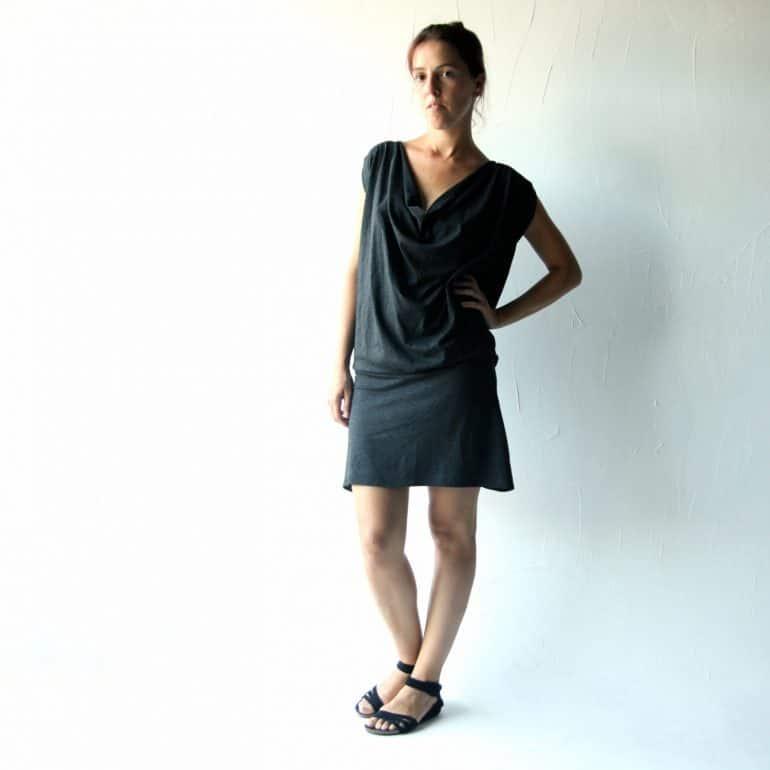 Grey dress, Jersey dress, Boho dress, Tunic dress, Grecian dress, Day dress, Maternity clothes, Women clothes, Plus size dress, Cowl dress