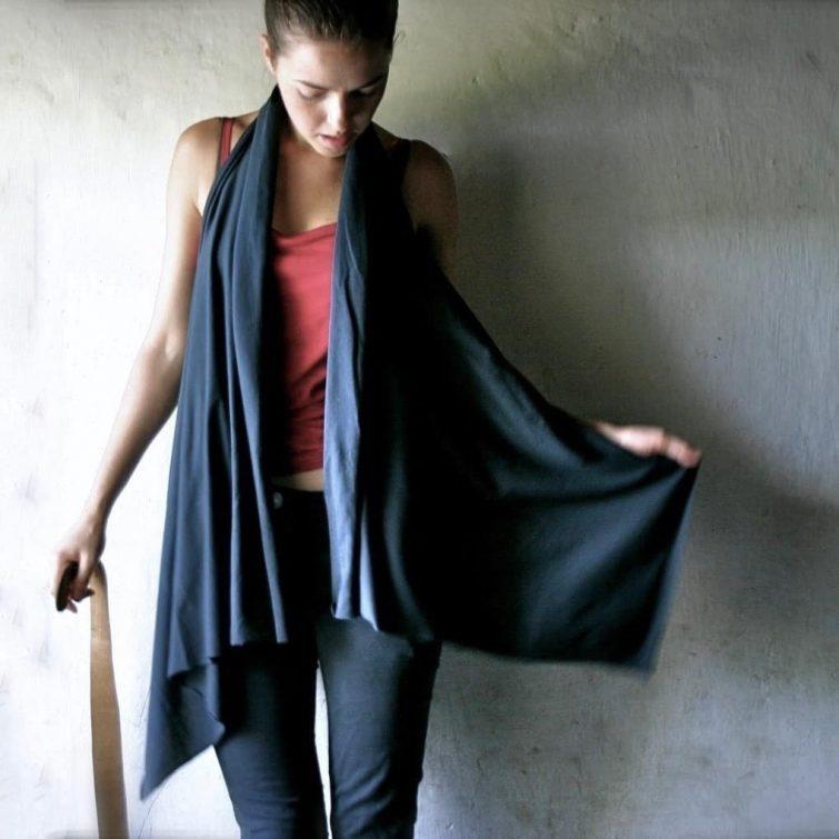 Halter shawl top