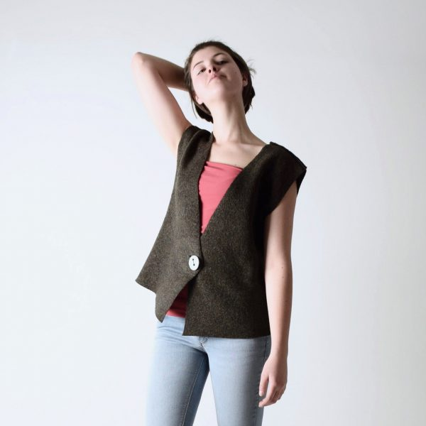 Felted wool vest