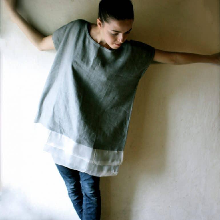 Oversize linen tunic
