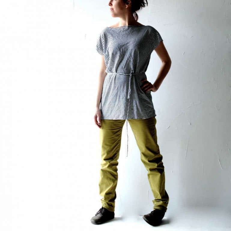 Linen top, Yoga tshirt, Oversized top, striped top, Women clothing, Plus size clothing, jersey top, Linen Tunic, Maternity top,