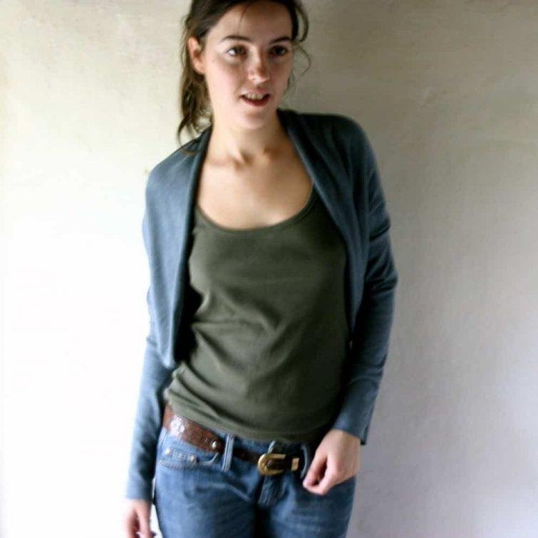 Long sleeve cotton cardigan