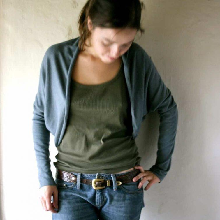 Long sleeve Shrug, Cardigan, Sweater, Blouse, Jersey cardigan, Jersey top, Woman clothing, Maternity clothes, Long sleeve top, Cotton bolero