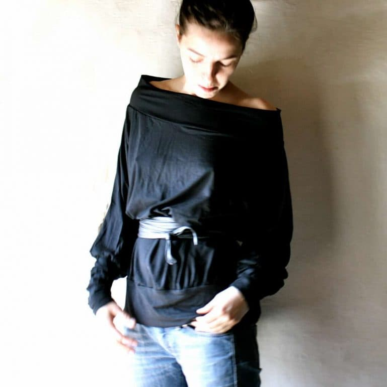 Long sleeve cotton blouse