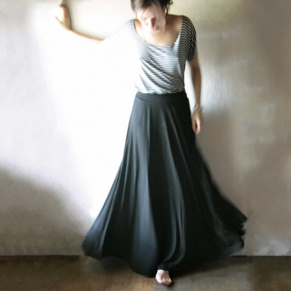 Maxi Skirt, Long skirt, Boho skirt, Floor length skirt, Black skirt, winter skirt, Strapless dress, Jersey skirt, Circle skirt, Maternity