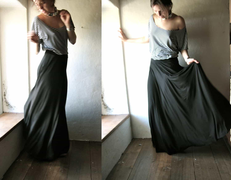 Long black maxi skirt - Larimeloom