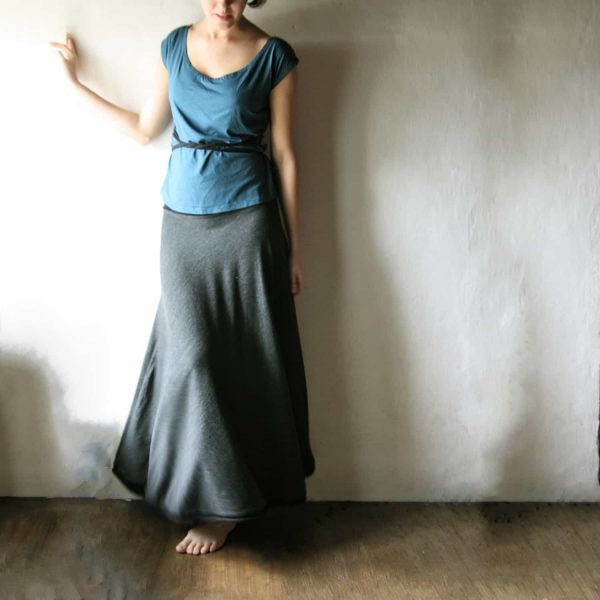 Long a-line boho skirt