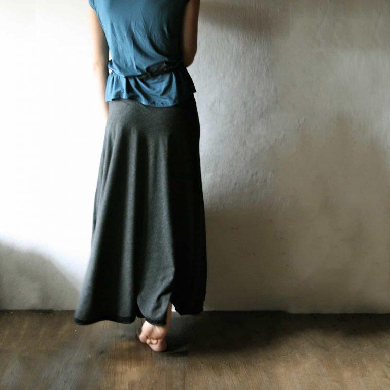 Maxi Skirt, Long skirt, Wool skirt, WInter skirt, Jersey skirt, Boho skirt, Grey skirt, Circle skirt, Winter clothes, Maternity clothes