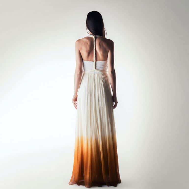 Ombré wedding dress, Boho Wedding dress, Infinity wedding dress, Grecian dress, Bohemian dress,  Beach wedding dress, One shoulder dress