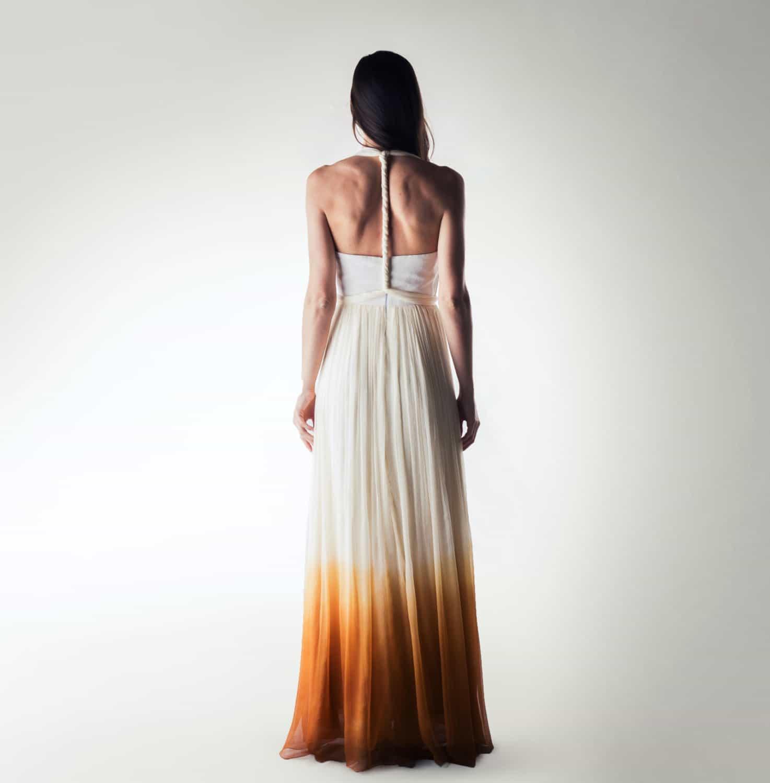 Helianthus Ombré wedding dress Larimeloom