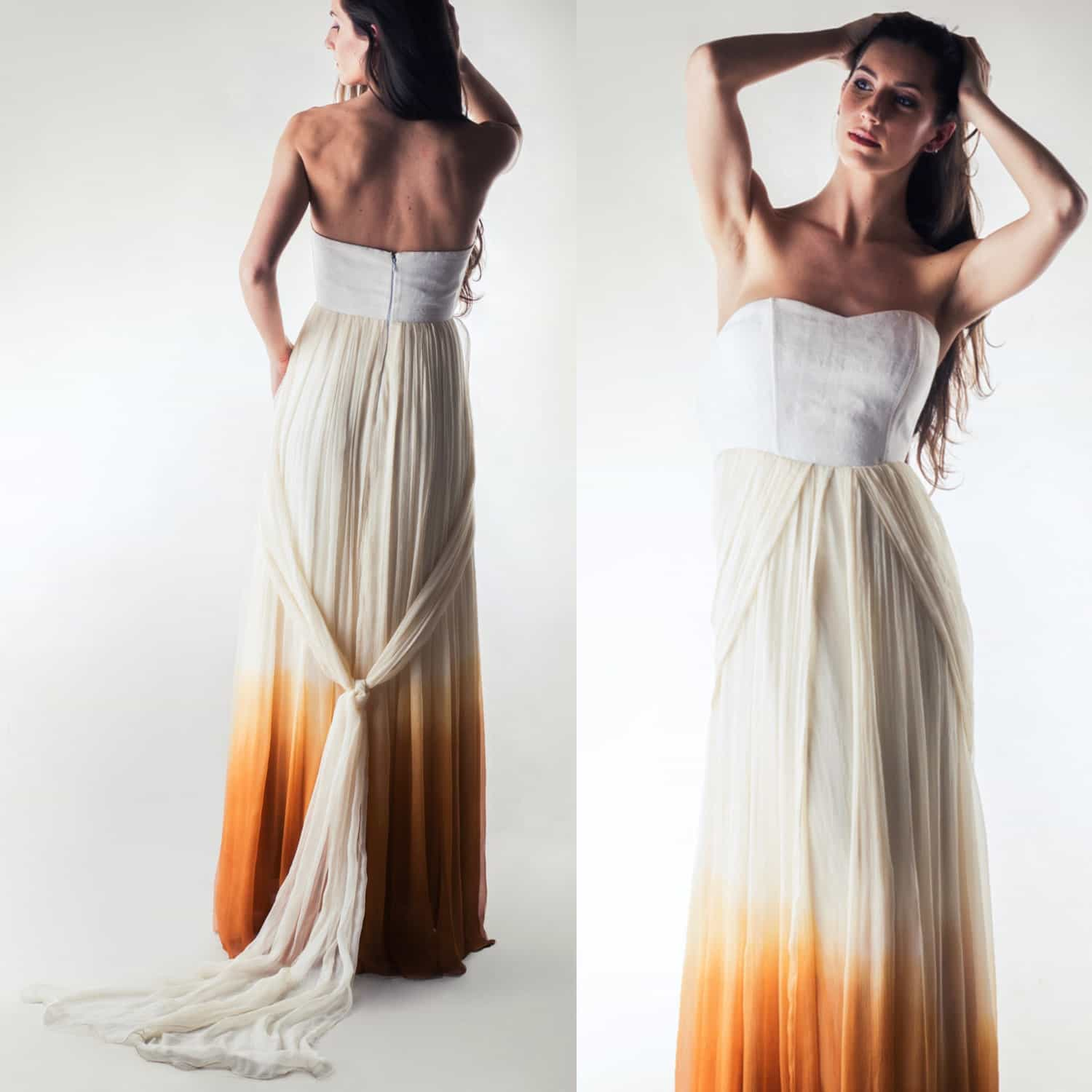 Helianthus ~ Ombré wedding dress - Larimeloom