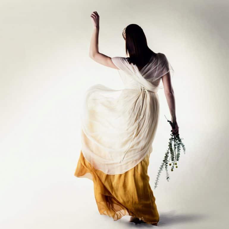 Dip Dye Infinity wedding dress
