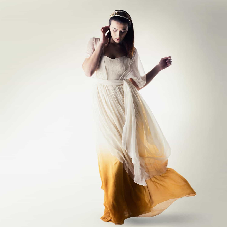 Myrtle ~ Dip Dye Infinity wedding dress - Larimeloom