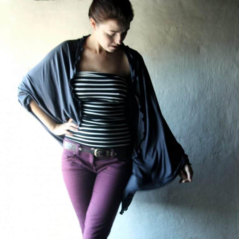 Drapey oversize cardigan shawl