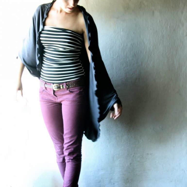 Oversized cardigan, Cotton sweater, Shawl, Black cardigan, Shawl top, Draped top, Jersey cardigan, plus size clothes, women's clothing