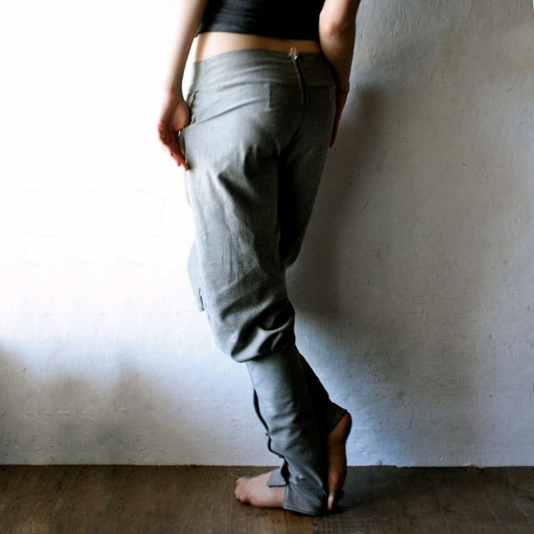 Wool harem pants