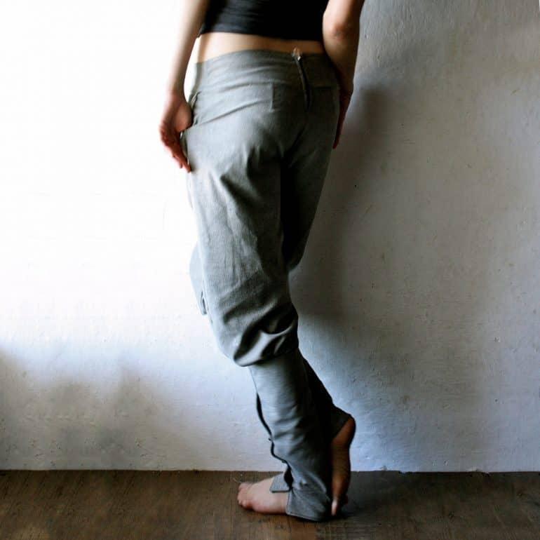 Wool harem pants
