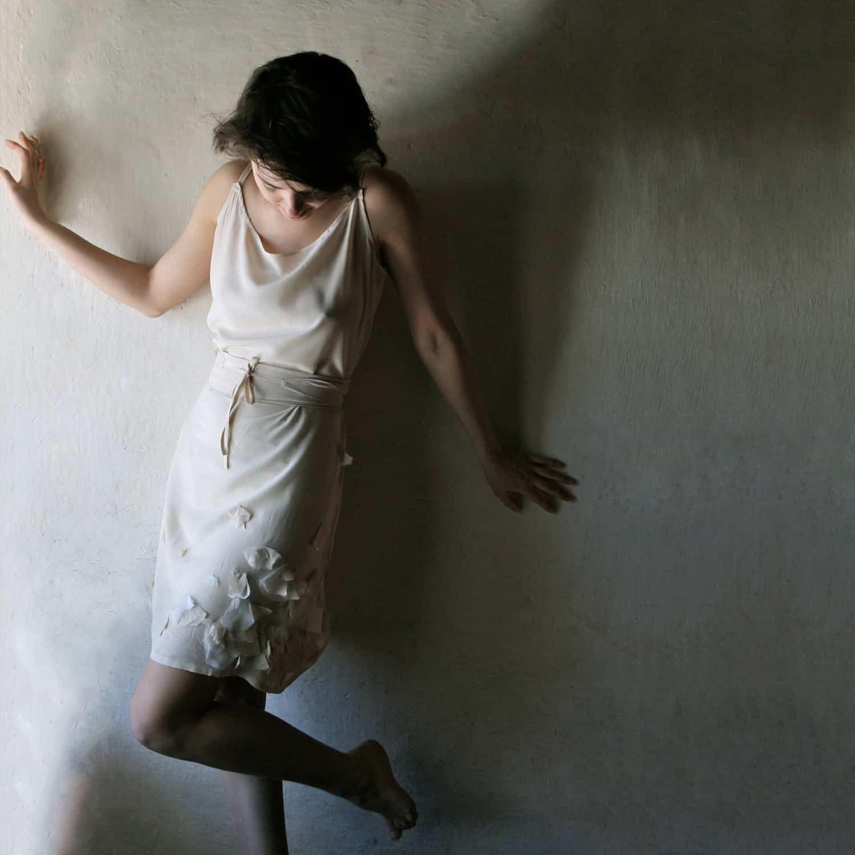 short silk wedding dress larimeloom handmade italian dress