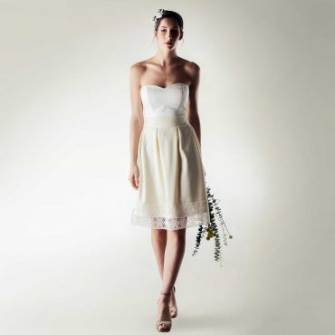 Short winter wedding dress