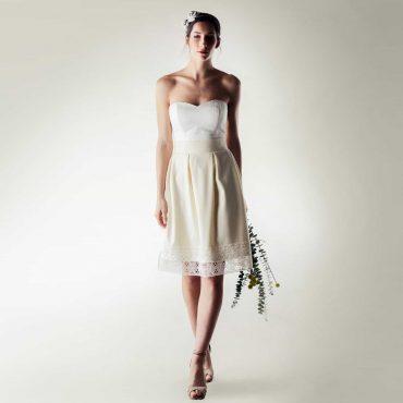 Short winter wedding dress