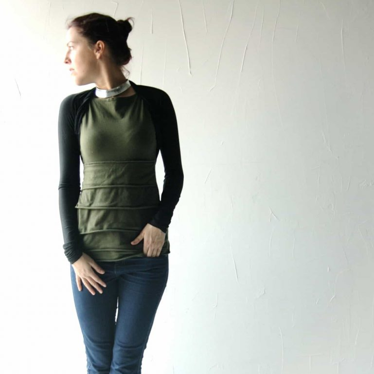 Fitted long sleeve shrug