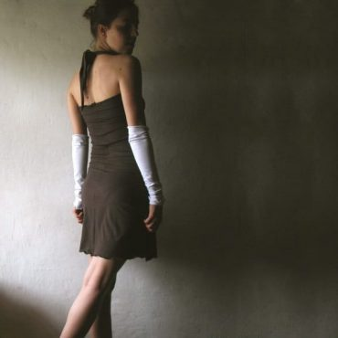 Strapless dress, Cotton dress, Brown dress, Halter dress, Tunic dress, Cotton tunic, Womens dress, a-line dress, Custom dress, Handmade