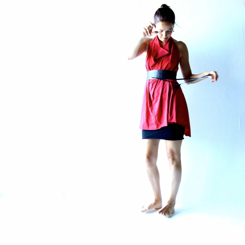 Loose halter tunic dress - Larimeloom Italian Handmade Clothing